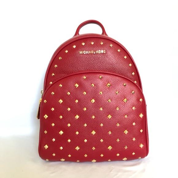 f5bd2f4933ad Michael Kors Bags | Abbey Studded Medium Backpack | Poshmark